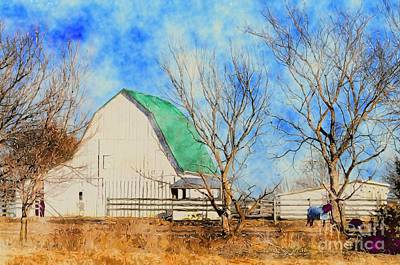 Photograph -  Farm - Barn - A Nice Sunny Day by Liane Wright
