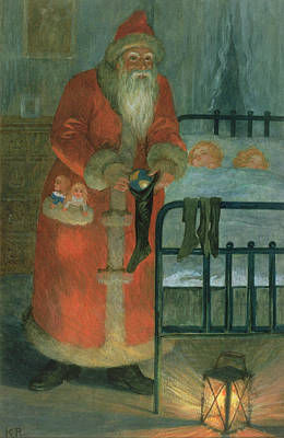Santa Claus Painting -  Father Christmas  by Karl Roger