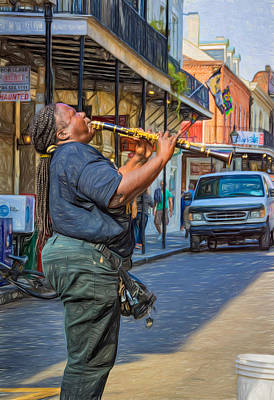 Clarinet Digital Art -  Feel It - Doreen's Jazz New Orleans 2 by Steve Harrington