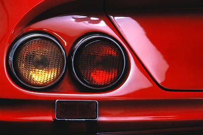 Photograph -  Ferrari Red by David and Carol Kelly