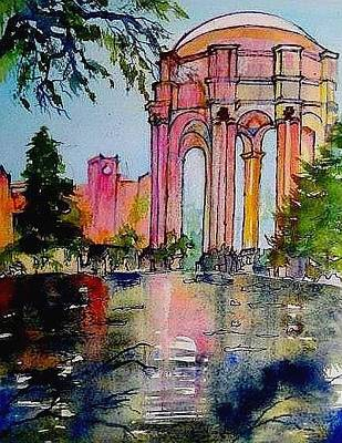Painting -   Fine Arts Palace San Francisco by Esther Woods