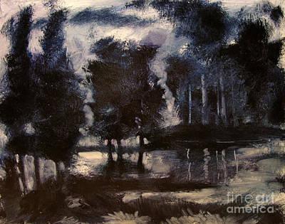 Tonalist Painting -  Finnegan Lake by Charlie Spear