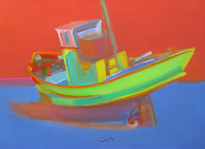 Painting -  Fished Out Washed Up by Charles Stuart
