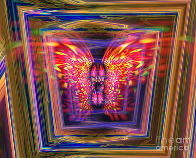 Digital Art -  Flaming Butterfly Mixed Media Painting by Heinz G Mielke