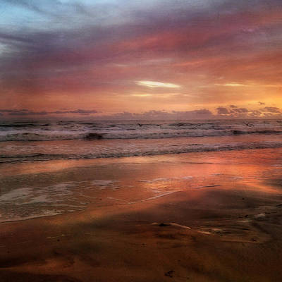 Florida Sunrise After A Storm - New Smyrna Beach Fl Art Print by Joann Vitali