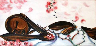 Painting -  Flower Asleep by Isabelle Mbore