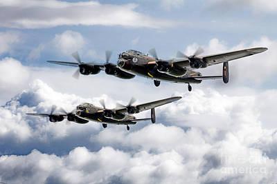 Canadian Heritage Digital Art -  Flying Lancasters by J Biggadike