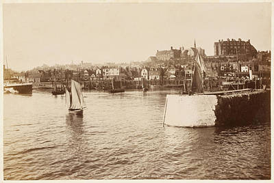 Folkestone Harbour Wall Art - Photograph -  Folkestone, Kent  East Cliff, Viewed by Mary Evans Picture Library