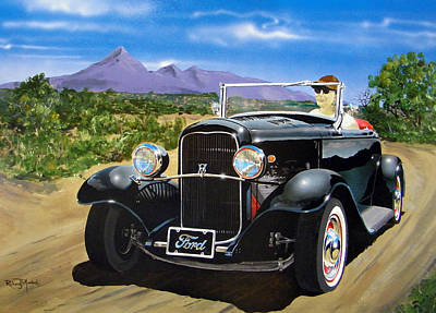 Painting -  Ford Roadster Highboy by Richard Mordecki