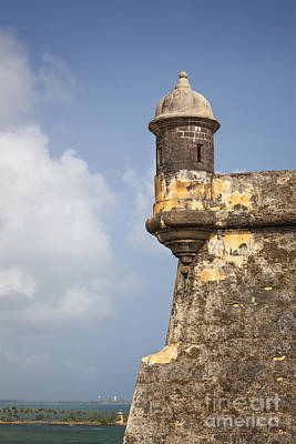 Photograph -  Fortified Walls And Sentry Box Of Fort San Felipe Del Morro by Bryan Mullennix