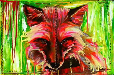 Foxy Lady Hermaique Art Print by Bazevian