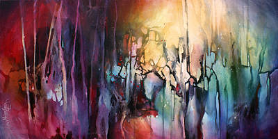 Directional Painting - ' Fractured Moment' by Michael Lang