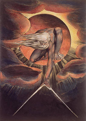 Frontispiece From 'europe. A Prophecy' Art Print by William Blake