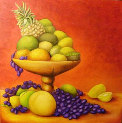 Passion Fruit Painting -  Fruitpassion by Lisa Carlen
