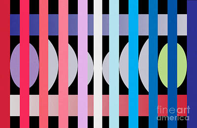 Abstract Pattern Painting -  Fun Geometric  by Mark Ashkenazi
