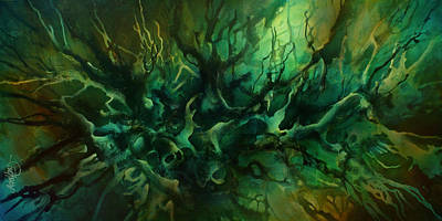 ' Garden Of Dreams ' Art Print by Michael Lang