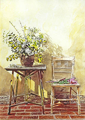 Gardener's Corner Art Print by David Lloyd Glover