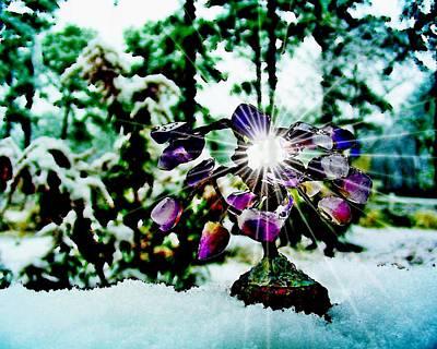 Gem Tree In Snow Art Print