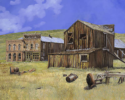 Village Painting -  Ghost Town Of Bodie-california by Guido Borelli