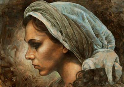 Girl In A Scarf Original by Arthur Braginsky