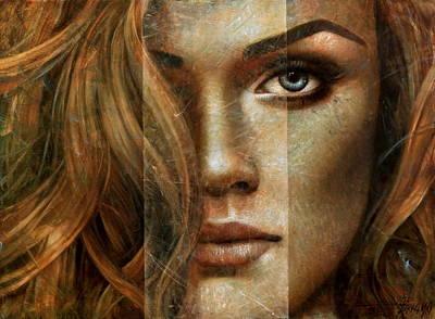 Wall Art - Painting -  Girl Portrait by Arthur Braginsky