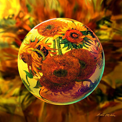 Sunflowers Digital Art -   Van Globing Inflorescence by Robin Moline