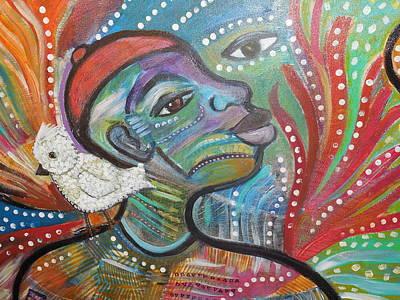Painting -  God's Child by Gwendolyn Aqui-Brooks