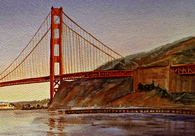 Golden Gate Painting -  Golden Gate Bridge San Francisco California by Irina Sztukowski