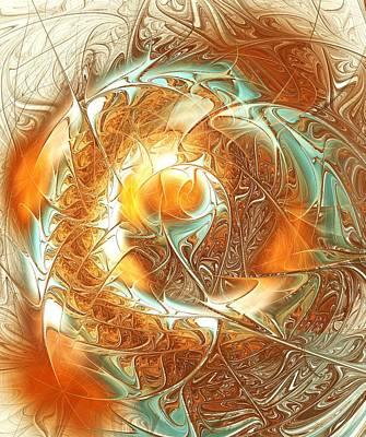 Digital Art -  Golden Splash by Anastasiya Malakhova