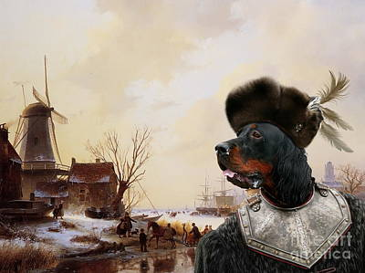 Gordon Setter Art Canvas Print - Art Print