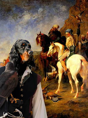 Gordon Setter Art Canvas Print Art Print