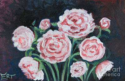 Painting -  Graceful Peonies by Elizabeth Robinette Tyndall