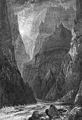 Grand Canyon Drawing -  Grand Canyon, Colorado The River by Mary Evans Picture Library
