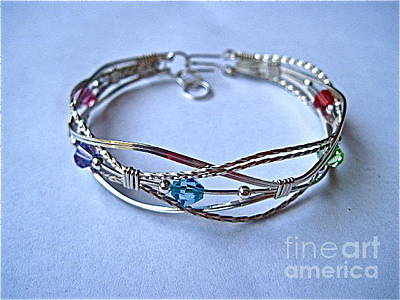 Argentium Jewelry -  Grapevine Multi Bracelet In Sterling by Holly Chapman