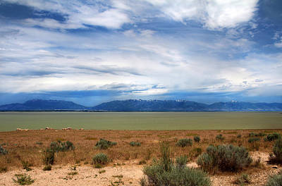 Photograph -  Great Salt Lake From Antelope Island by Jemmy Archer