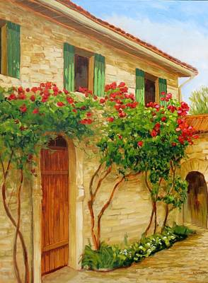 Painting -   Greeen Shutters by Liliane Fournier