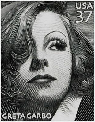 Greta Garbo Painting -  Greta Garbo by Lanjee Chee