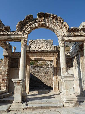 Library Of Celsus Photograph -  Hadrian Temple by Zori Minkova