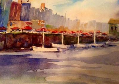 Painting -  Harborside by Pat Steiner