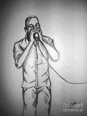 Drawing -  Harmonica  Sings by Sidney Holmes