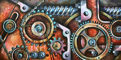 Pulley Painting - ' Harmony 8' by Michael Lang
