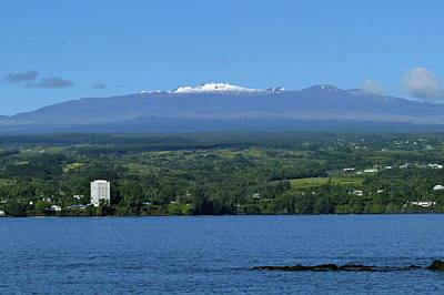 Photograph -  Hawaii's Snow Above Hilo Bay Hawaii by Lehua Pekelo-Stearns