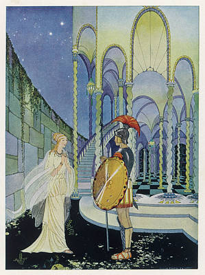 Minotaur Drawing -  He Tells Ariadne, Daughter Of  Minos by Mary Evans Picture Library