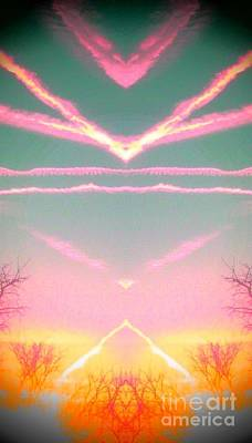 Heavenly  Contrails  Art Print