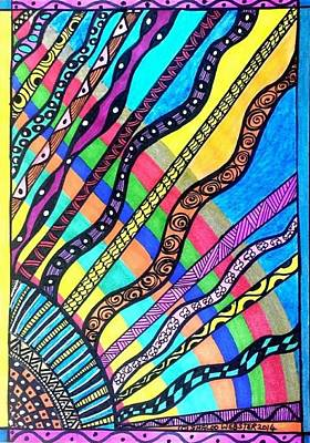 Sun Rays Drawing -  Heavenly Rays Of Love And Healing by Shaloo Webster