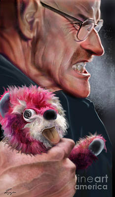 Television Painting -  Heisenberg And Mister White by Reggie Duffie