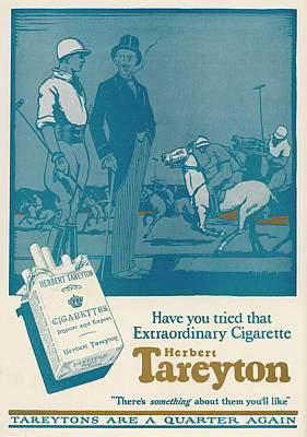 Herbert Tareyton Cigarettes - There's Art Print by Mary Evans Picture Library