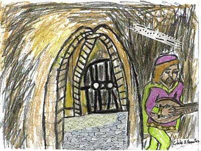 Hidden Lutist Art Print by Cibeles Gonzalez