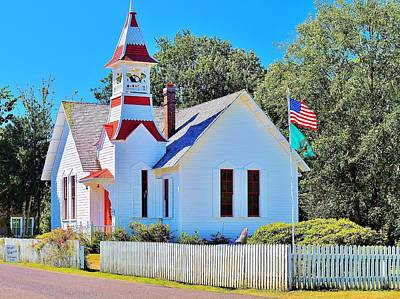 Photograph -  Historic Oysterville Church by Vivian Markham
