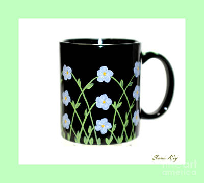 Glass Art -  Holiday Collection. Forget Me Not by Oksana Semenchenko